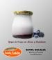 Yogur de oveja con moras y arándanos